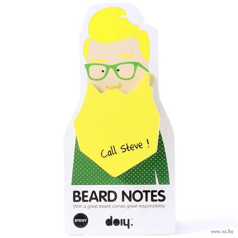 """Блок для записей """"Beard"""" (желтый)"""
