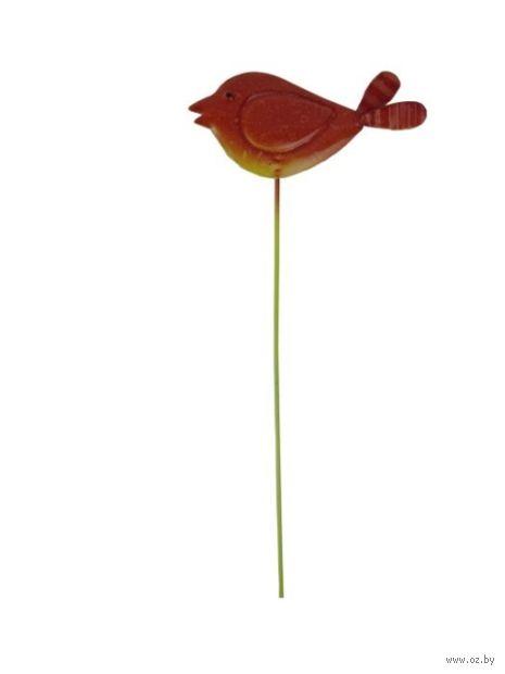 """Украшение садовое """"Птичка оранжевая"""" — фото, картинка"""