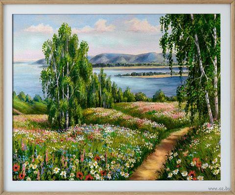 "Алмазная вышивка-мозаика ""Цветущий луг"" (500х400 мм) — фото, картинка"