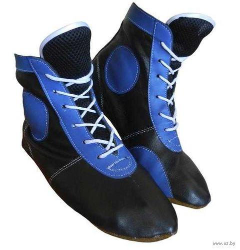 Самбовки ASSH-01 (р. 45; кожа; синие) — фото, картинка