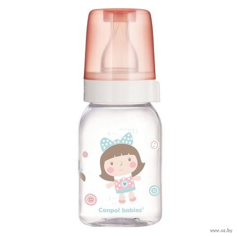 Бутылочка стеклянная для кормления с рисунком (120 мл)