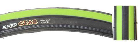 """Покрышка для велосипеда """"C-1406 CZAR Comp"""" (чёрно-зелёная; 700х25C) — фото, картинка"""