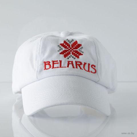 """Бейсболка Vitaem """"Belarus"""" (белая)"""
