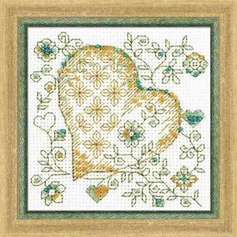 """Вышивка бисером """"Золотое сердце"""" (арт. 1353)"""