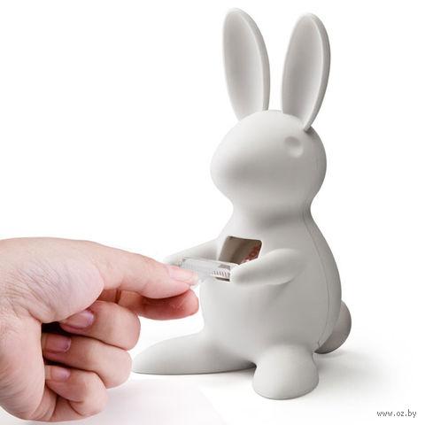 """Диспенсер для скотча настольный """"Bunny"""" (белый)"""