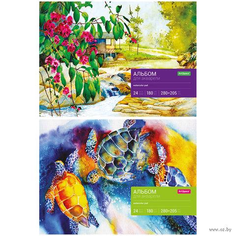 Альбом для акварели на склейке А4 (24 листа)