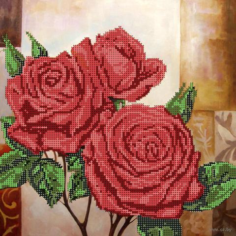 """Канва с нанесенным рисунком """"Красные розы"""""""