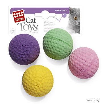"""Игрушка для кошек """"Мячики"""" (4 шт; 8 см)"""