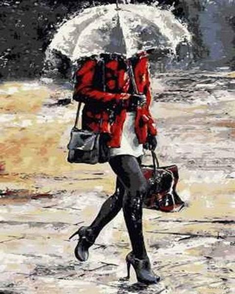 "Картина по номерам ""Под дождем"" (400x500 мм; арт. MG6873)"