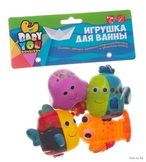 """Набор игрушек для купания """"Рыбки, рак, медуза"""" — фото, картинка"""