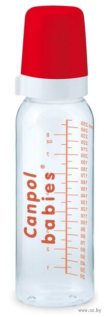 Бутылочка стеклянная для кормления (240 мл)