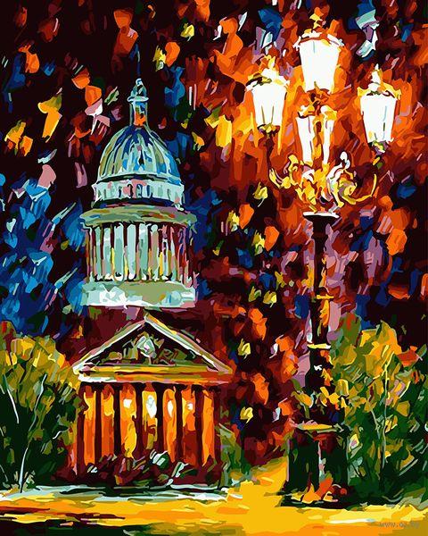 "Картина по номерам ""Огни ночного Питера"" (400х500 мм) — фото, картинка"
