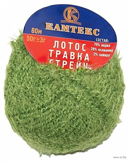 "Пряжа ""Камтекс. Лотос травка стрейч №045"" (50 г; 80 м; зеленое яблоко) — фото, картинка"