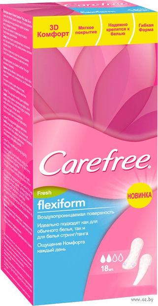 """Ежедневные прокладки """"Carefree FlexiForm Fresh"""" (18 шт.) — фото, картинка"""