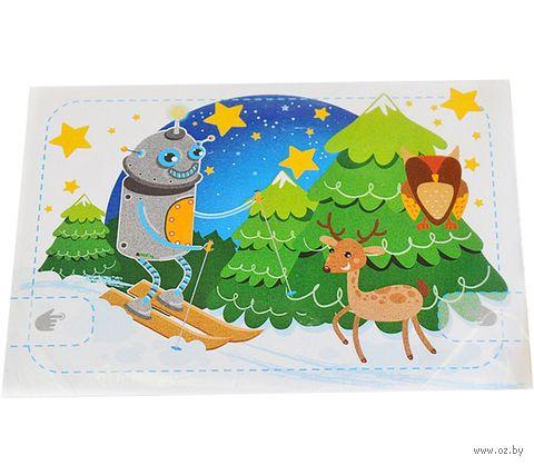 """Набор для изготовления электронной открытки """"Робот-лыжник"""" — фото, картинка"""
