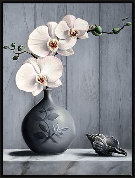 """Алмазная вышивка-мозаика """"Орхидея"""" (300х400 мм) — фото, картинка"""