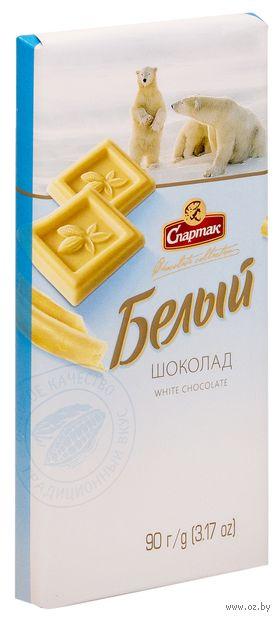 "Шоколад белый ""Спартак"" (90 г) — фото, картинка"