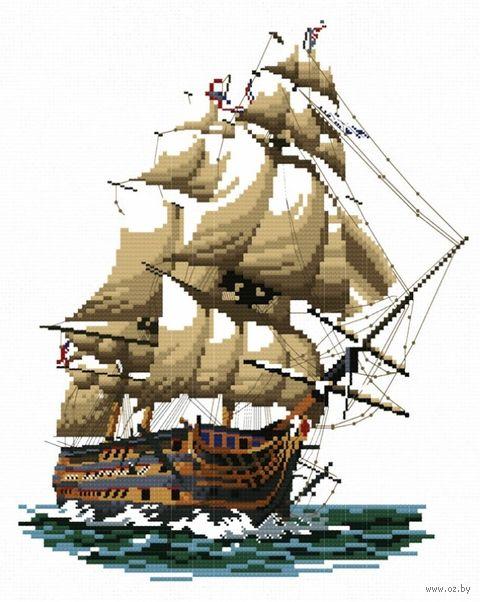 """Вышивка крестом """"Корабль Виктория"""""""