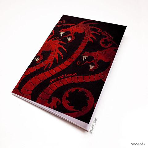 """Блокнот белый """"Игра престолов. Таргариены"""" А6 (868)"""