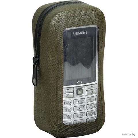 Чехол влагозащитный с карабином для телефона (оливковый) — фото, картинка