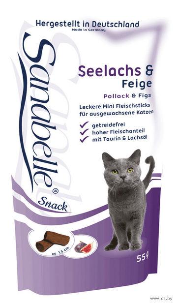 """Лакомство для кошек """"Cat Sticks"""" (55 г; сайда и инжир) — фото, картинка"""