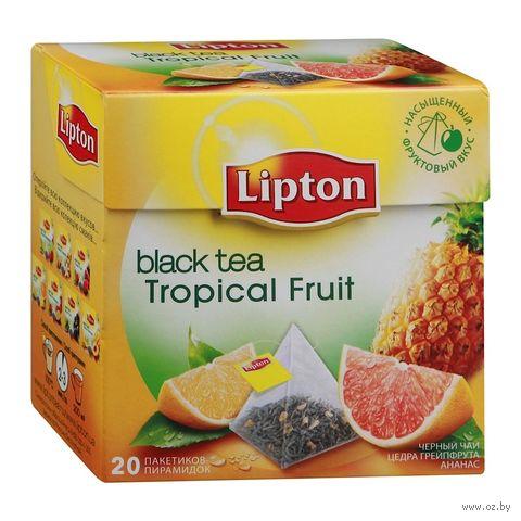 """Чай черный """"Lipton. Tropical Fruit"""" (20 пакетиков) — фото, картинка"""