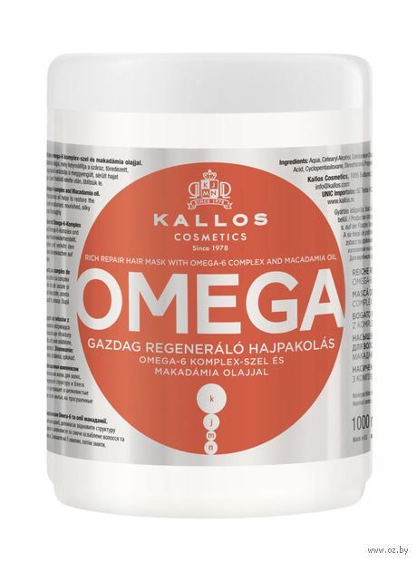 "Маска для волос ""Omega. Восстанавливающая"" (1 л) — фото, картинка"