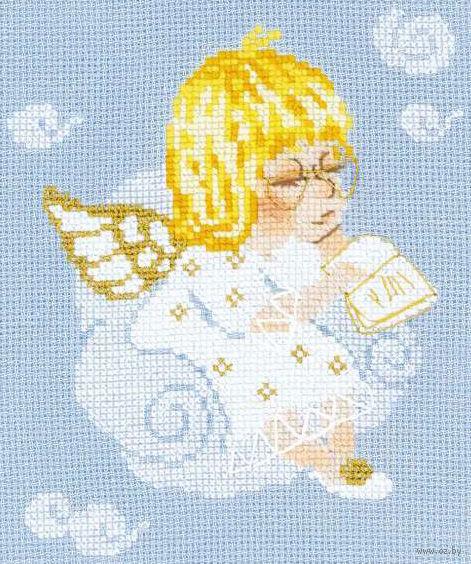"""Вышивка крестом """"Ангелочек с книгой"""" (арт. 1136)"""