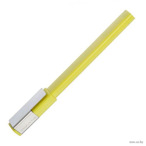 """Ручка-роллер Молескин """"Plus"""" (0,7 мм; цвет корпуса: желтый; цвет чернил: черный)"""