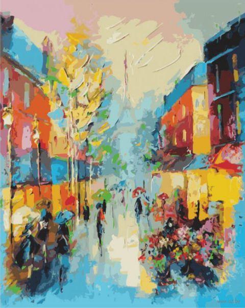 "Картина по номерам ""Улочки Парижа"" (500х400 мм)"