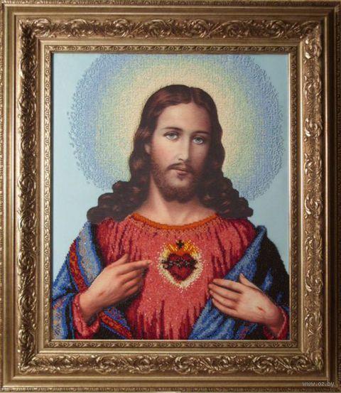 """Вышивка бисером """"Иисус"""""""