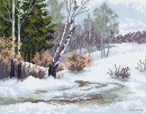 "Канва с нанесенным рисунком ""Зимний лес"" (арт. 838)"
