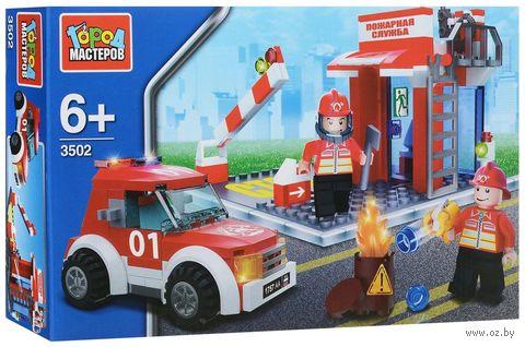 """Конструктор """"Пожарная станция"""" (124 детали) — фото, картинка"""