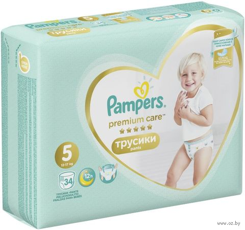 """Подгузники-трусики """"Premium Care Junior"""" (12-17 кг; 34 шт.) — фото, картинка"""