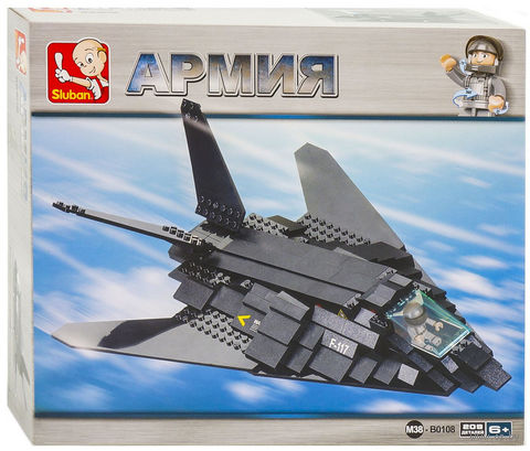 "Конструктор ""Армия. Бомбардировщик F-117"" (209 деталей) — фото, картинка"