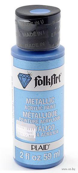 "Краска акриловая ""FolkArt. Metallic"" (синий сапфир, 59 мл; арт. PLD-00656)"