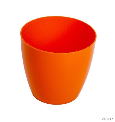"""Цветочный горшок """"Ага"""" (9,5 см; оранжевый) — фото, картинка"""