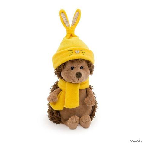 """Мягкая игрушка """"Ёжик Колюнчик. В шапке зайчонка"""" (20 см; арт. OS001-87/20) — фото, картинка"""