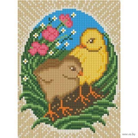 "Алмазная вышивка-мозаика ""Пасхальные цыплята"""