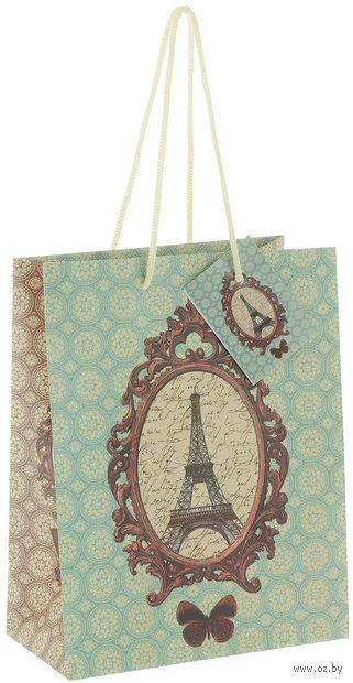 """Пакет бумажный подарочный """"Французский"""" (17,8х22,9х9,8 см; арт. 39650) — фото, картинка"""