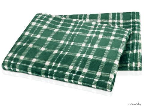 """Плед в чехле """"Эдинбург"""" (зеленый) — фото, картинка"""