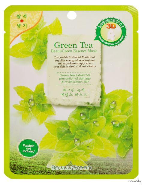 """Тканевая маска для лица """"Зеленый чай"""" (23 г) — фото, картинка"""