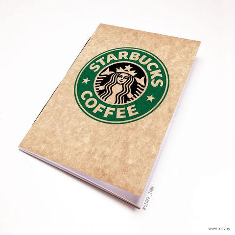 """Блокнот крафт """"Старбакс кофе"""" (А5; арт. 504) — фото, картинка"""