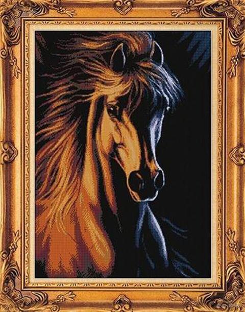 """Вышивка крестом """"Огненный конь"""""""
