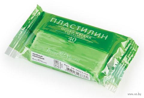 Пластилин особо мягкий кукурузный (40 г; зеленый неоновый) — фото, картинка