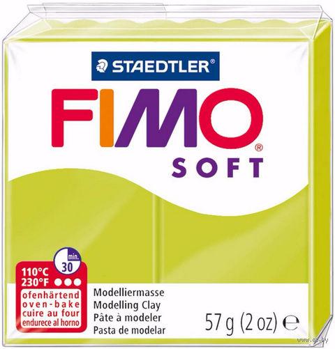 """Глина полимерная """"FIMO Soft"""" (зеленый лайм; 57 г) — фото, картинка"""