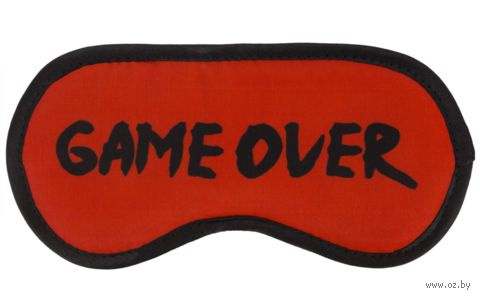 "Маска для сна ""Game Over"" — фото, картинка"
