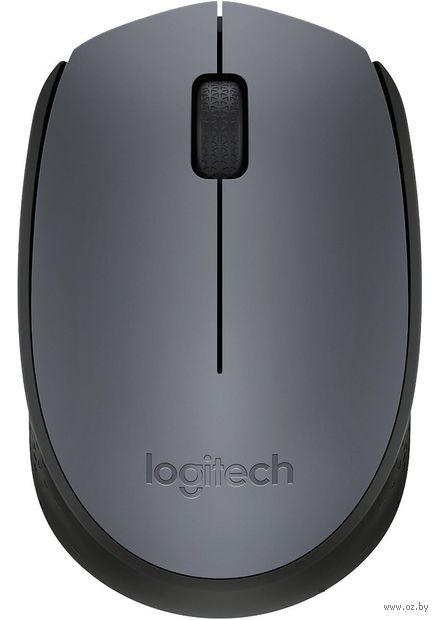Беспроводная мышь Logitech Mouse M170 (серая) — фото, картинка