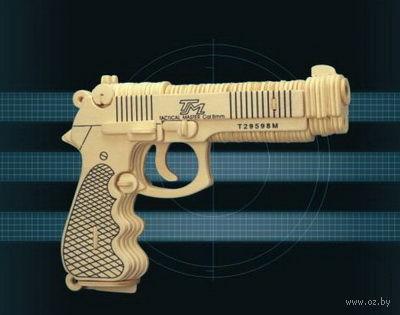 """Сборная деревянная модель """"Пистолет Беретта"""" — фото, картинка"""