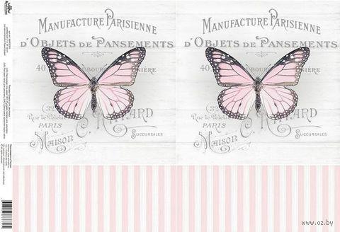 "Бумага для декупажа рисовая ""Бабочки"" (21х30 см; арт. AM400393) — фото, картинка"